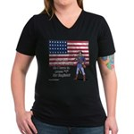 Press 1 for English? Women's V-Neck Dark T-Shirt