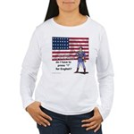 Press 1 for English? Women's Long Sleeve T-Shirt