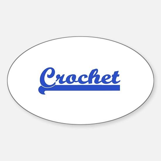 Crochet - Crocheter Oval Decal