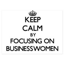 Keep Calm by focusing on Businesswomen Invitations