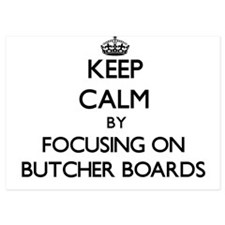 Keep Calm by focusing on Butcher Board Invitations