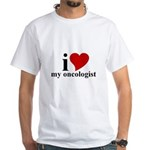 iHeart My Oncologist White T-Shirt