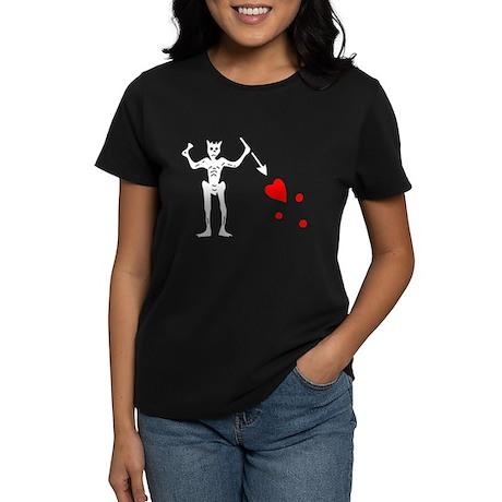 Blackbeard's Flag Women's Dark T-Shirt