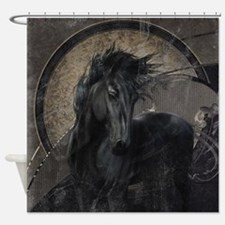 Gothic Friesian Horse Shower Curtain