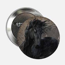 "Gothic Friesian Horse 2.25"" Button (10 pack)"