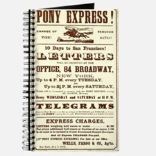 Pony Express Vintage Poster 2 Journal