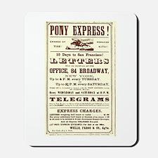 Pony Express Vintage Poster 2 Mousepad