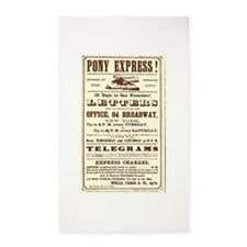 Pony Express Vintage Poster 2 3'x5' Area Rug