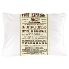 Pony Express Vintage Poster 2 Pillow Case
