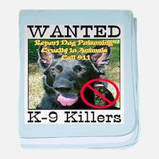 Wanted K-9 Killers baby blanket