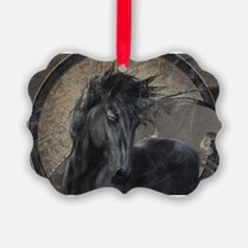 Gothic Friesian Horse Ornament