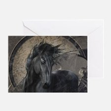 Gothic Friesian Horse Greeting Cards