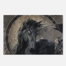Gothic Friesian Horse Postcards (Package of 8)