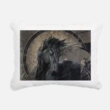Gothic Friesian Horse Rectangular Canvas Pillow