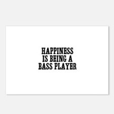 happiness is being a bass pla Postcards (Package o