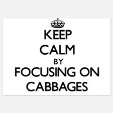 Keep Calm by focusing on Cabbages Invitations