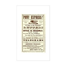 Pony Express Vintage Poster 2 Decal