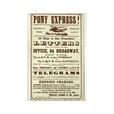 Pony Express Vintage Poster 2 Magnets