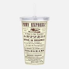 Pony Express Vintage P Acrylic Double-wall Tumbler