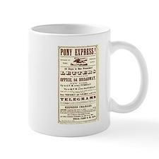 Pony Express Vintage Poster 2 Mugs