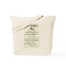 Pony Express Vintage Poster 2 Tote Bag