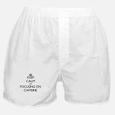 Keep Calm by focusing on Caffeine Boxer Shorts