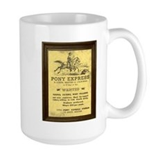 Pony Express Vintage Poster with frame Mugs