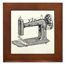 Vintage Sewing Machine Framed Tile