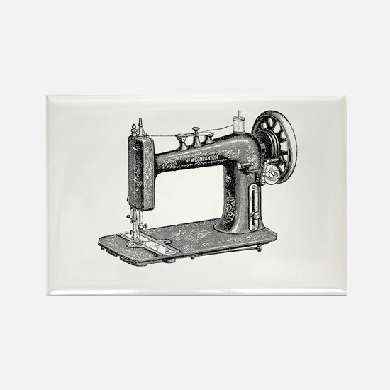 Vintage Sewing Machine Rectangle Magnet