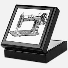 Vintage Sewing Machine Keepsake Box