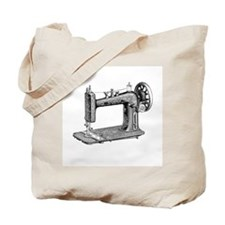 Vintage Sewing Machine Tote Bag