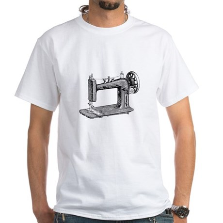 Vintage Sewing Machine White T-Shirt