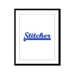 Stitcher - Sewing, knitting, Framed Panel Print