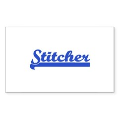 Stitcher - Sewing, knitting, Sticker (Rectangular