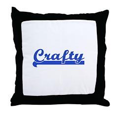 Crafty - I Love Crafts Throw Pillow