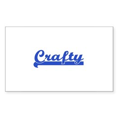 Crafty - I Love Crafts Rectangle Decal