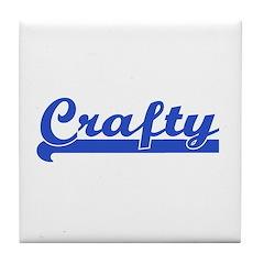 Crafty - I Love Crafts Tile Coaster