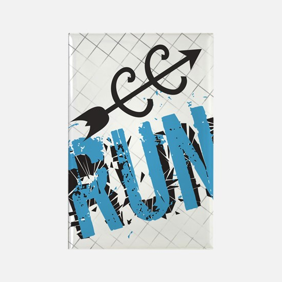 Grunge Run Cross Country Magnets