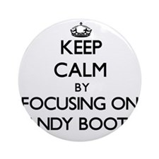 Keep Calm by focusing on Candy Bo Ornament (Round)