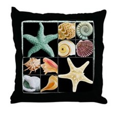 Seashells & Starfish  Throw Pillow