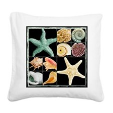 Seashells & Starfish  Square Canvas Pillow