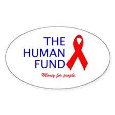 The Human Fund Oval Decal