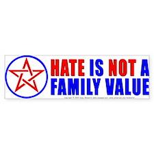 Hate Not Bumper Bumper Sticker