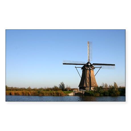 Dutch windmill Rectangle Sticker