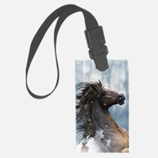 Mustang Horse In The Snow Luggage Tag