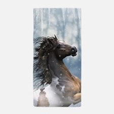 Mustang Horse In The Snow Beach Towel