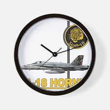 f18_hornet_tiger_meet_staffel_11.png Wall Clock