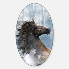 Mustang Horse In The Snow Decal