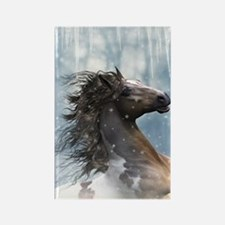 Mustang Horse In The Snow Magnets