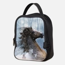 Mustang Horse In The Snow Neoprene Lunch Bag